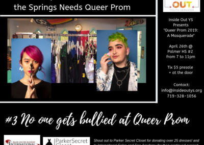 #3 No one gets bullied at Queer Prom.